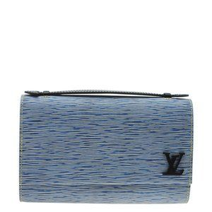 Louis Vuitton M54539 Clery Blue Epi Clutch 183433